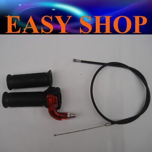Twist Throttle Accelerator Grip + cable 47 49cc Mini Bike ATV Quad Pocket Dirt