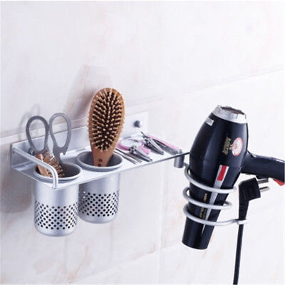 Hair Dryer Straightener Holder Spiral Wall Mounted Bathroom Use Comb  New