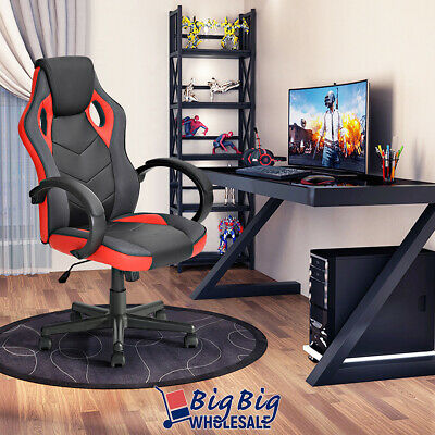 Gaming Racing Style Office Computer Desk Chair Pu Leather Swivel Ergonomic Back