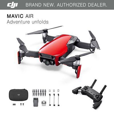 DJI Mavic Air - Flame Red Drone - 4K Camera, 32MP Sphere Panoramas!
