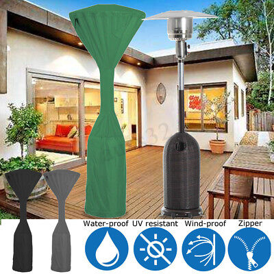 (Waterproof Outdoor Garden Patio Heater Cover Protector Green/Grey/Black 241cm)