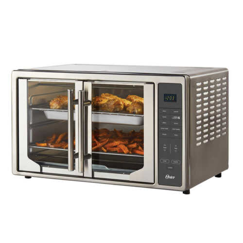 New Oster Digital French Door with Air Fry Countertop Oven Model 2142061 Latest!