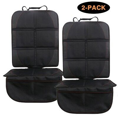 Car Seat Protector (1/2-Pack, Black) by YELLOW-PRICE - Best Child Seat Pad