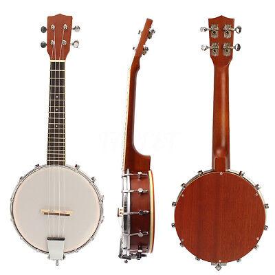 IRIN 23''Banjo Ukulele Banjolele 4 Nylon String Professional Concert Sapele Wood