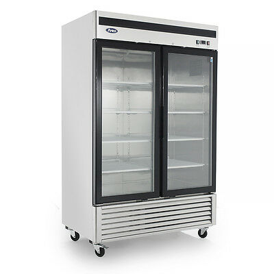 Atosa Mcf8703 - 54 Glass Door Freezer - 2 Door Commercial Freezer Merchandiser