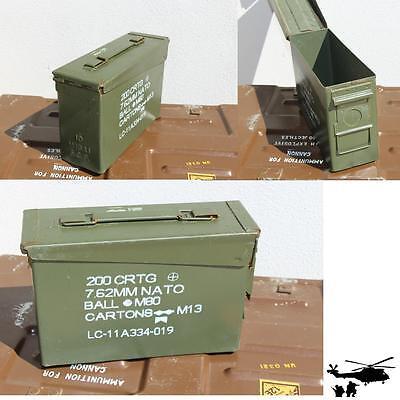 2 Stück US ARMY Munitionskiste Muni-Kiste Metallkiste Metallbox Munikiste gr.1