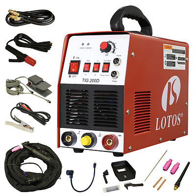 Tig Stick 200 Amp Welder Lotos Tig200-dc With Pedal Inverter Power Welding New