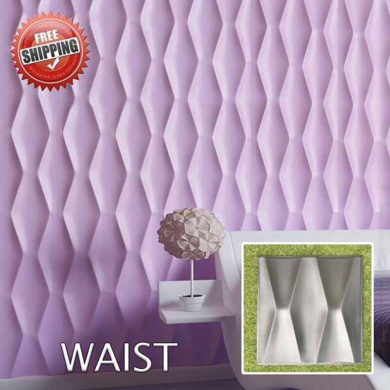 Concrete Stamps, Forms & Mats Sculpting, Molding & Ceramics *square* 3d Decorative Wall Panels 1 Pcs Abs Plastic Mold For Plaster By Scientific Process