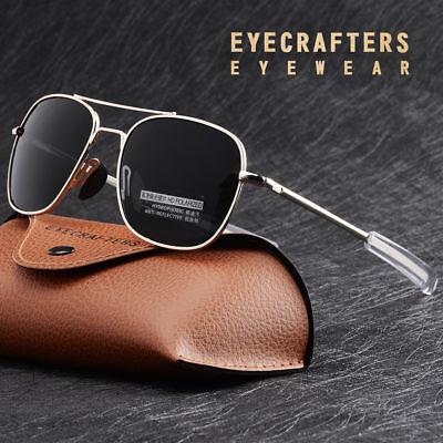- Polarized  American Army Military Pilot Mens Sunglasses Bayonet Temple Glasses 2
