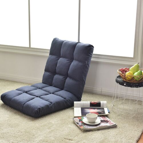 Folding Adjustable Sofa Floor Chair Soft 14-Position Cushion