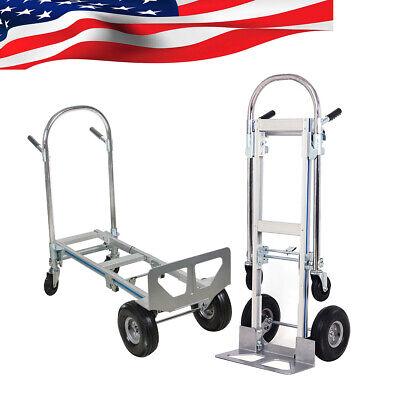 Top Sell Practical Aluminum Hand Truck Convertible Fold 2wheel Dolly 4wheel Cart