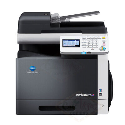 Konica Minolta Bizhub C35 Color Mfp Printer Copier Scanner Network 31 Ppm