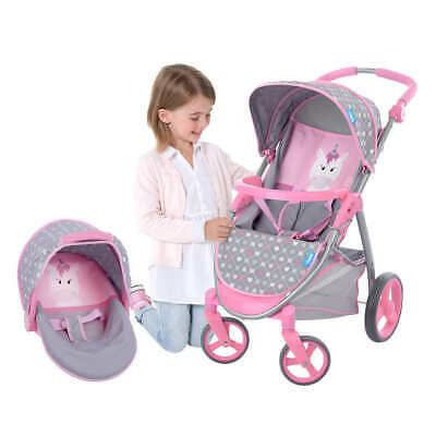 Hauck 2-In-1 Doll Stroller & Car Seat Carrier Travel System Kiddie NEW