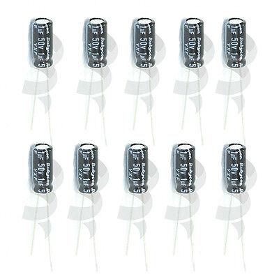 50pcs 1uf 50v 105c Radial Electrolytic Capacitor Rubycon Yxf Series Us