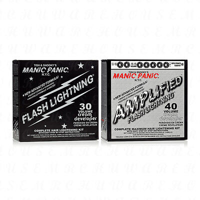 Hair Lightening Kit - Manic Panic Flash Lightning Complete Hair Lightening Bleach Kit Pick Your Volume
