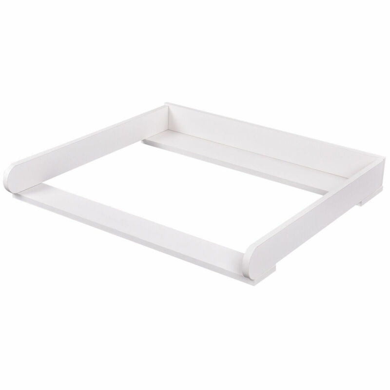 """31"""" Changing Table Top Dresser Infant Baby Nursery Diaper Station Kit White New"""