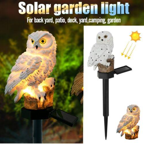 Stand Owl Solar LED Light Garden Landscape Yard Outdoor Decor Lamp Waterproof US Décor