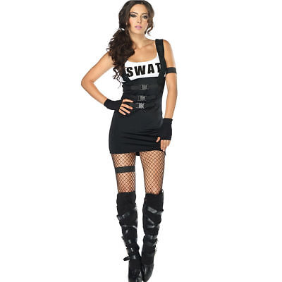 Leg Avenue Sultry SWAT Officer Costume Adult Police Cop - Swat Patrol Officer Halloween Costume