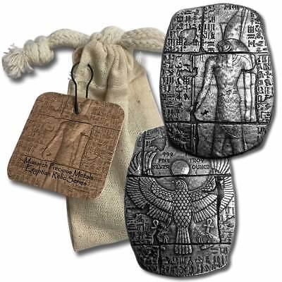 3 oz Fine Silver Relic Bar - Old World Egyptian Falcon God Horus - BACKORDER