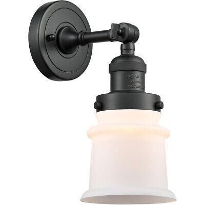 Innovations Lighting 203-BK-G181S Small Canton Wall Sconce Matte Black