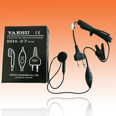 YAESU MH-37B2B Lapel Ear Mic for FT-411 FT-11 FT-530 FT-51 FT-23 FT-811 FT-33 for sale  Shipping to United States
