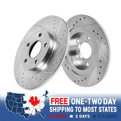 For Lexus ES300 Toyota Camry Solara Rear Drill Slot Plated Brake Rotors