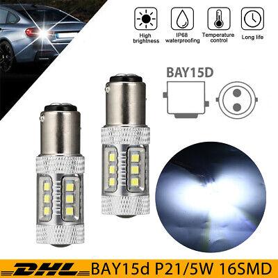 2x BAY15d P21/5W SAMSUNG SMD 15 LED PKW Lampe Bremslicht Rücklicht Xenon Weiß DE