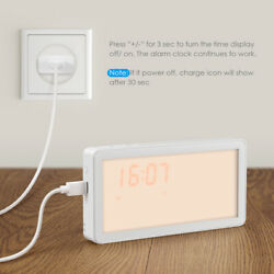 Home Digital LED Wake-Up Night Light Sensor Bedside Lamp Sunrise Alarm Clock
