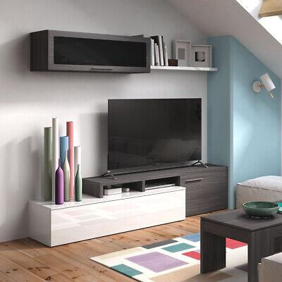 Parete attrezzata mobile TV multiposizione salotto soggiorno 200X41X43 016667G