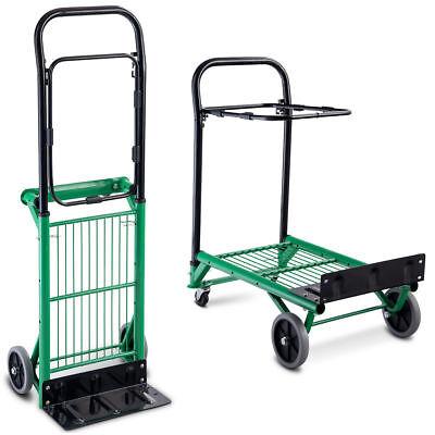 2in1 Platform Hand Truck Garden Folding Dolly Hand Push Box Moving Leaf Bag Cart