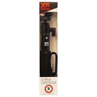 Black Mounting Pole - XSories U-Shot 19-in Telescopic Pole with 1/4-inch Mount & GoPro Adapter - Black