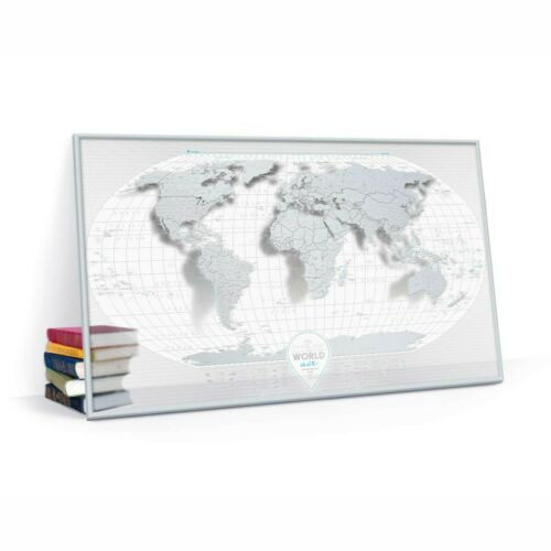 BIG TRANSPARENT SCRATCH OFF TRAVEL MAP AIR WORLD MAP PUSH PIN POSTER WALL MAP