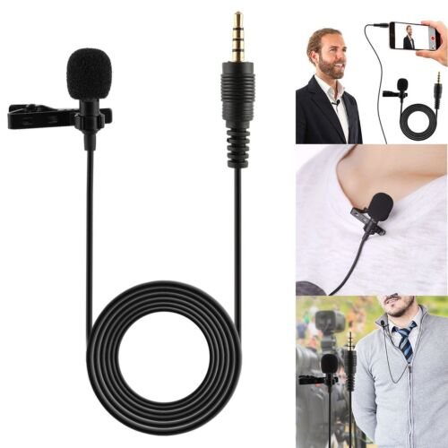 Clip On Lapel Microphone Hands Free Wired Condenser Mini Lav