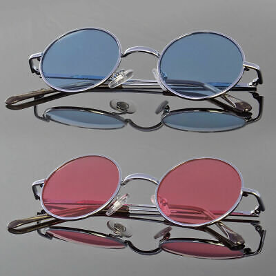 John Lennon Style Circle Round Vintage Retro Classic Sunglasses For Small (Sunglasses Style For Round Face)