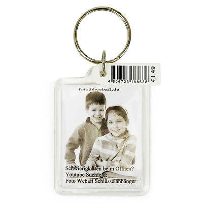 3,5,10,15,20,50 & 100 Stück Foto - Schlüsselanhänger Passbildformat 3,5 x 4,5 cm