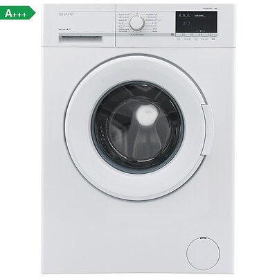 Sharp ES-GFB8143W3-DE Waschmaschine, 8 kg, 1400 U/Min., A+++, 15' KURZPROGRAMM