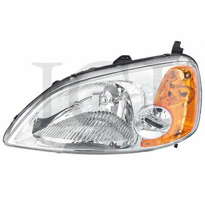 For 2001-2003 Honda Civic Left Driver Side Head Lamp Headlight