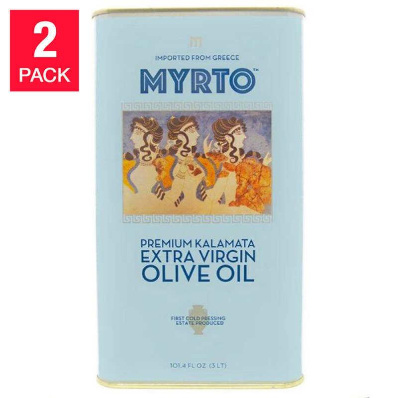 NEW Myrtos Greek Extra Virgin Olive Oil 3L, Tins, 2-pack **FREE SHIPPING**