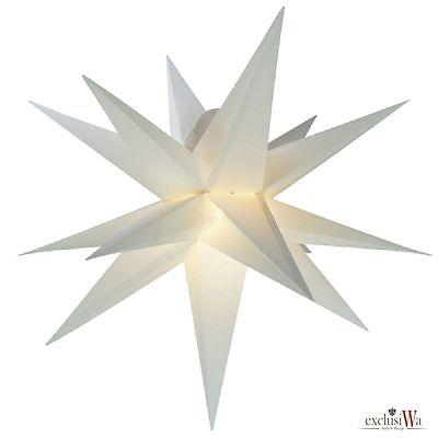 55 cm Außenstern Komplettset Adventsstern Weihnachtsstern 3D Faltstern weiß