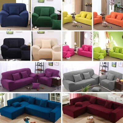 Stretch Chair Sofa Cover 1 2 3 4Seater Shaped Couch Protect Full Cover Slipcover
