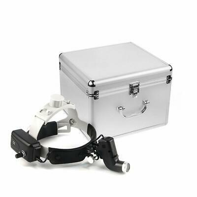 Dental Surgical 5w Led Headband Head Light Ent Specific Black With Aluminum Box