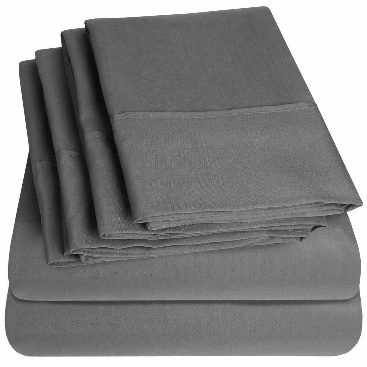 Egyptian Cotton Queen Size Bed Sheets Sheet Set Deep Pocket