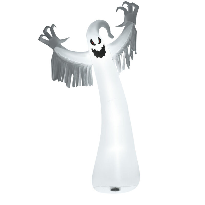 12FT Halloween Inflatable Blow Up Ghost w/ LED Lights Outdoor Yard Decoration