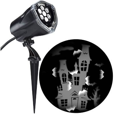 Gemmy Halloween LED Light Show Projection Plus Bats Whirl A Motion/Static White (Gemmy Light Show Halloween)