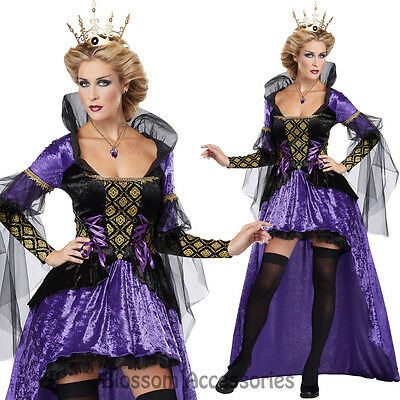 CL26 Wicked Queen Snow White Adult Gothic Fancy Dress Halloween Costume Outfit ()