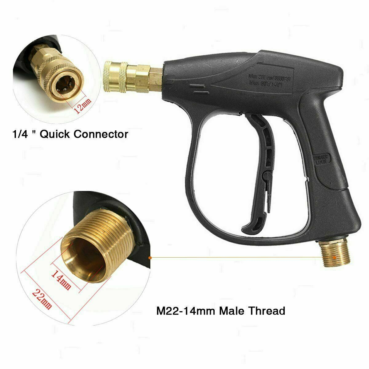 High Pressure Washer Gun Water Jet 3000 PSI for Car Pressure