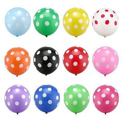 12 POLKA DOT PARTY BALLOONS U Pick Party Decoration Fiesta Aloha Birthday Helium - Fiesta Birthday Party