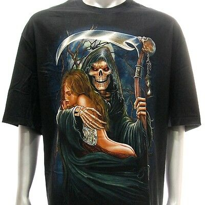 r136 Rock Eagle T-shirt Tattoo Sexy Lady Sacrifice Halloween Grim Reaper Horror