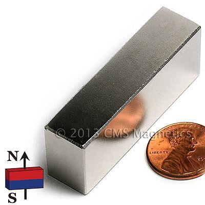 Cms Magnetics Very Strong N45 Neodymium Bar Magnet 2x 12x 34 2-pc
