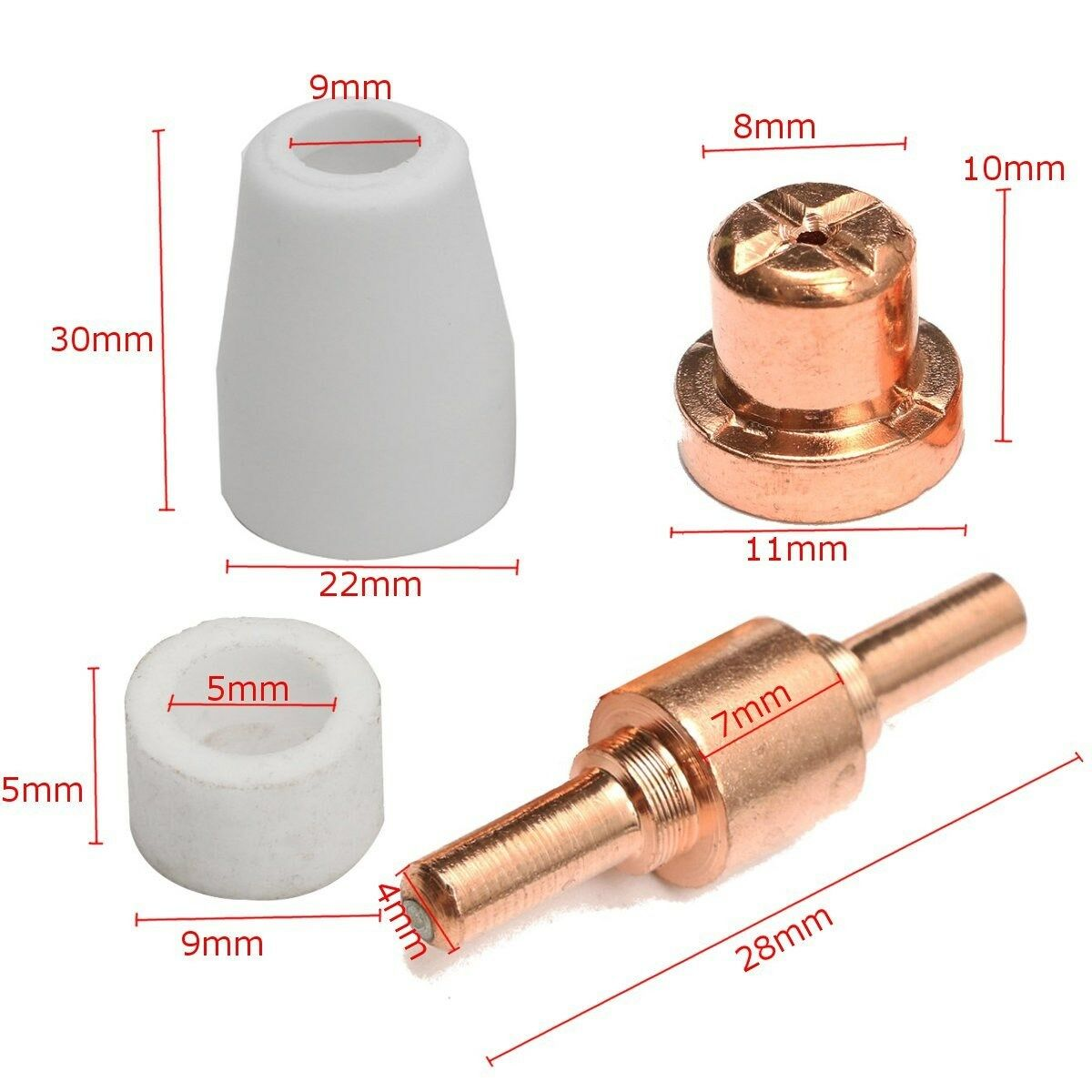 PT31 Air Plasma Cutter Torch Consumables Fit CUT40//50 CT312 85pcs